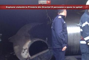 Explozie violentă la Primăria din Oravița! O persoana a ajuns la spital!
