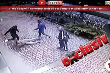 VIDEO ȘOCANT: Taximetrist lovit cu bestialitate în zona Intim a Reșiței!