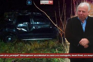 "STENOGRAME: Vezi cum și-a ""aranjat"" Ghiorghioni accidentul în care s-a rostogolit, beat fiind, cu mașina CJ!"