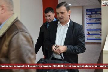 Stepanescu a băgat în buzunare aproape 300.000 de lei din șpagă doar în ultimul an! Vezi cum și-a pavat primarul curtea din mită!