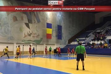 Petrişorii au pedalat serios pentru victoria cu CSM Focşani