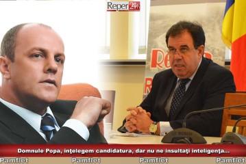 Domnule Popa, înţelegem candidatura, dar nu ne insultaţi inteligenţa…