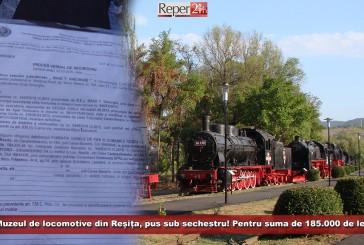 Muzeul de locomotive din Reșița, pus sub sechestru! Pentru suma de 185.000 de lei!