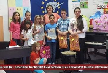 Păstrăm tradiția – deschidem frontierele! Elevi cărășeni și-au demonstrat talentul artistic în Serbia!