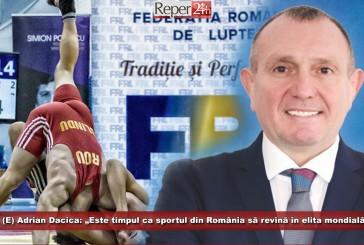 """(E) Adrian Dacica: """"Este timpul ca sportul din România să revină în elita mondială"""""""