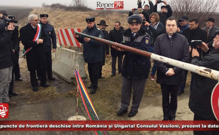 10 puncte de frontieră deschise între România și Ungaria! Consulul Vasiloni, prezent la datorie!