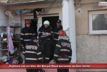 Explozie într-un bloc din Bocșa! Două persoane au fost rănite!