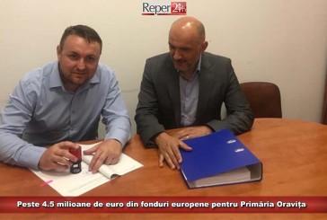 Peste 4.5 milioane de euro din fonduri europene pentru Primăria Oravița