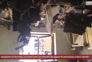 Explozie la Oravița, în urma unei acumulări de gaze! O persoană a fost rănită!