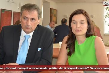 """Valeria Schelean: """"Nu sunt o adeptă a traseismului politic, dar fiind tatăl meu, îi respect decizia""""! Vela nu comentează!"""