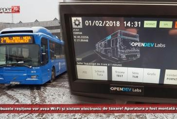 Autobuzele reșițene vor avea Wi-Fi și sistem electronic de taxare! Aparatura a fost montată deja