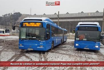 """Record de călători în autobuzele reșițene; TUR a încasat cu 25.000 lei mai mult față de Ro-A Tir! Popa mai cumpără șase """"balene"""""""