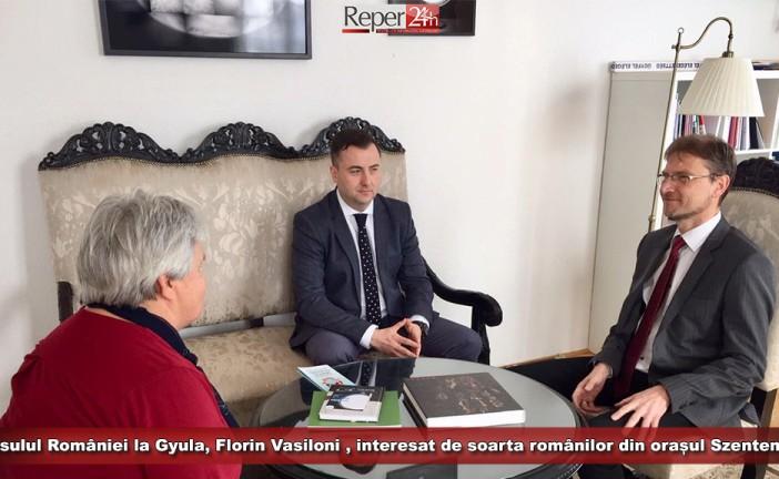 Consulul general al României la Gyula, Florin Vasiloni , interesat de soarta românilor din orașul Szentendre!