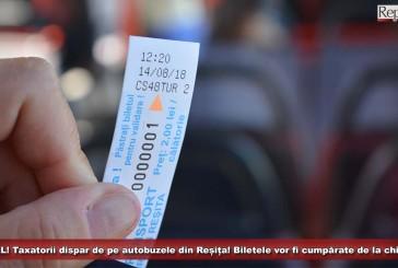 OFICIAL! Taxatorii dispar de pe autobuzele din Reșița! Din septembrie, biletele vor fi cumpărate de la chioșcuri!