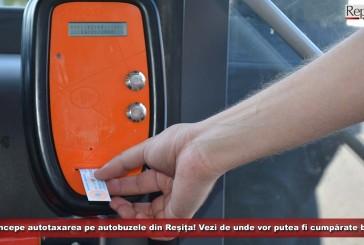 OFICIAL! De joi începe autotaxarea pe autobuzele din Reșița! Vezi de unde vor putea fi cumpărate biletele!
