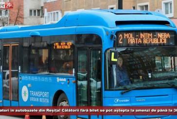 Taxatorii au dispărut de pe autobuzele din Reșița! Călătorii prinși fără bilet se pot aștepta la amenzi de până la 300 de lei!