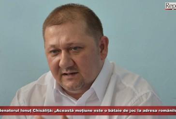 """Senatorul Ionuț Chisăliță: """"Această moțiune este o bătaie de joc la adresa românilor"""""""