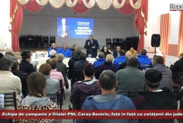 Echipa de campanie a filialei PNL Caraș-Severin, față în față cu cetățenii din județ