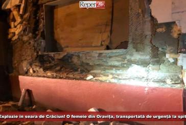 Explozie în seara de Crăciun! O femeie din Oravița, transportată de urgență la spital!
