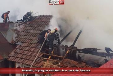 Incendiu, în prag de sărbători, la o casă din Târnova!