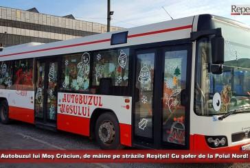 Autobuzul lui Moș Crăciun, de mâine pe străzile Reșiței! Cu șofer de la Polul Nord!