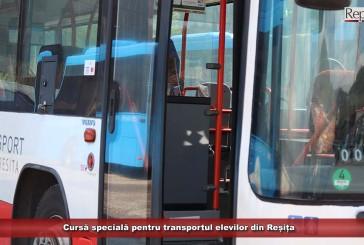 Cursă specială pentru transportul elevilor din Reșița