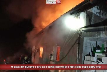 O casă din Bucova a ars ca o torță! Incendiul a fost stins după patru ore!