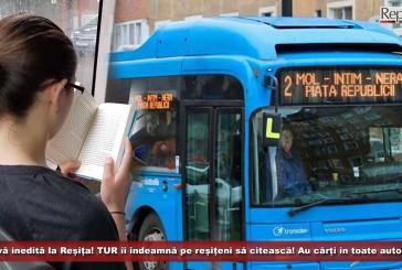 Inițiativă inedită la Reșița! TUR îi îndeamnă pe reșițeni să citească! Au cărți în toate autobuzele!