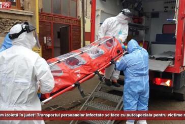 Nu avem izoletă în Caraș-Severin! Transportul persoanelor infectate se face cu autospeciala pentru victime multiple