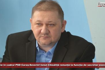 Demisie în cadrul PSD Caraș-Severin! Senatorul Ionuț Chisăliță renunță la funcția de secretar executiv!