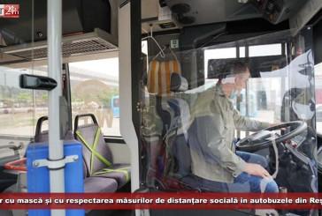 TUR ia măsuri! Doar cu mască și cu respectarea măsurilor de distanțare socială în autobuzele din Reșița!