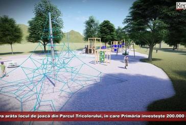 200.000 de lei investește Primăria Reșița în locul de joacă din Parcul Tricolorului! Cum va arăta la finalizarea lucrărilor?
