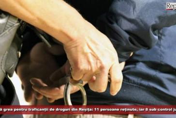 Lovitură grea pentru traficanții de droguri din Reșița: 11 persoane reținute, iar alte 8 sub control judiciar
