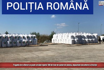 Tragedia de la Beirut se poate oricând repeta! 368 de tone de azotat de amoniu, depozitate neconform la Oravița!