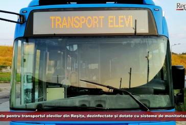 Autobuzele pentru transportul elevilor din Reșița, dezinfectate și dotate cu sisteme de monitorizare video