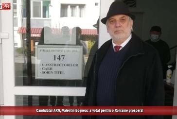 Candidatul ARN, Valentin Boșneac a votat pentru o Românie prosperă!