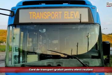 Card de transport gratuit pentru elevii reșițeni