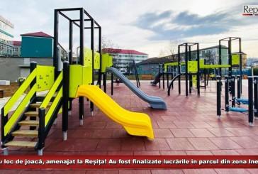 Un nou loc de joacă, amenajat la Reșița! Au fost finalizate lucrările în parcul din zona Inelarului