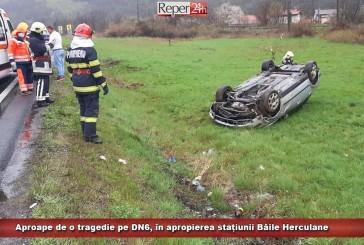 Aproape de o tragedie pe DN6, în apropierea stațiunii Băile Herculane