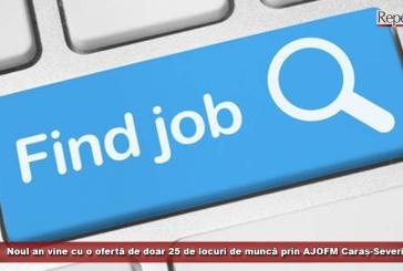 Noul an vine cu o ofertă de doar 25 de locuri de muncă prin AJOFM Caraș-Severin