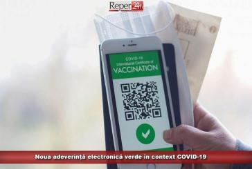Noua adeverință electronică verde în context COVID-19
