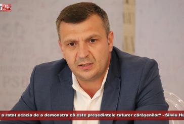 """""""Dunca a ratat ocazia de a demonstra că este președintele tuturor cărășenilor"""" – Silviu Hurduzeu"""