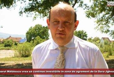 Primarul Mălăiescu vrea să continue investițiile în zona de agrement de la Gura Jgheabului
