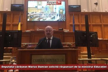 Deputatul cărășean Marius Damian solicită răspunsuri de la ministrul Educației