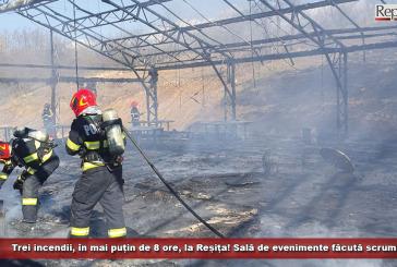 Trei incendii în mai puțin de 8 ore, la Reșița