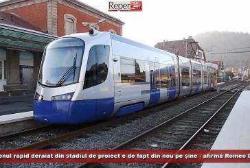 Trenul rapid deraiat din stadiul de proiect este, de fapt, din nou pe șine, afirmă Romeo Dunca
