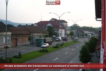 Strada Ardealului din Caransebeș cu canalizare și astfalt nou
