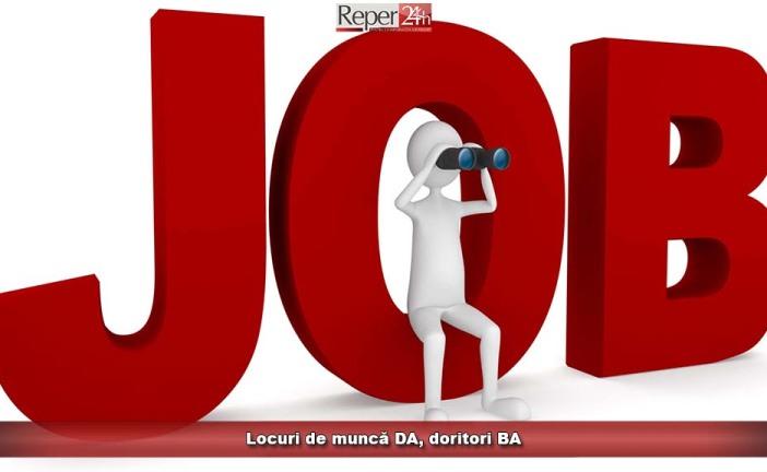 Locuri de muncă DA, doritori BA