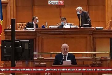 """Deputat Romulus-Marius Damian: """"Reîncep școlile după 1 an de haos și incompetență""""!"""
