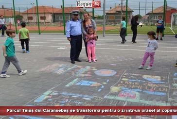 Parcul Teiuș din Caransebeș se transformă pentru o zi într-un orășel al copiilor